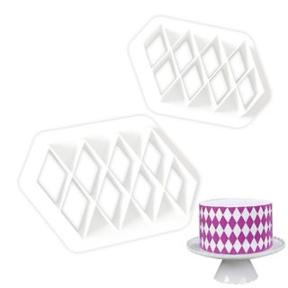 DIAMOND/LATTICE/QUILTING EMBOSSER | 2 PIECES