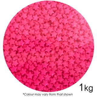 SPRINK'D | STARS | BRIGHT PINK | 7MM | 1KG