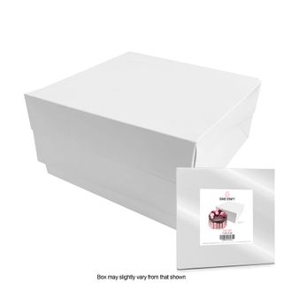 CAKE CRAFT | 11X11X6 INCH CAKE BOX | RETAIL PACK