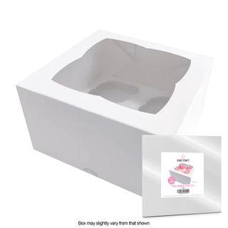 CAKE CRAFT | CUPCAKE BOX | 4 HOLES | STANDARD | 4 INCH HIGH | RETAIL PACK