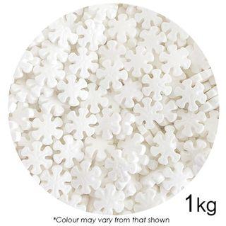 SPRINK'D   WHITE SNOWFLAKES   12MM   1KG