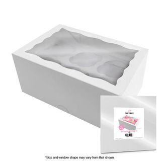 CAKE CRAFT | CUPCAKE BOX | 6 HOLES | STANDARD | 4 INCH HIGH | RETAIL PACK