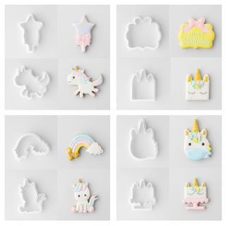 UNICORN SET OF 8 | COOKIE CUTTER | 8 PIECES