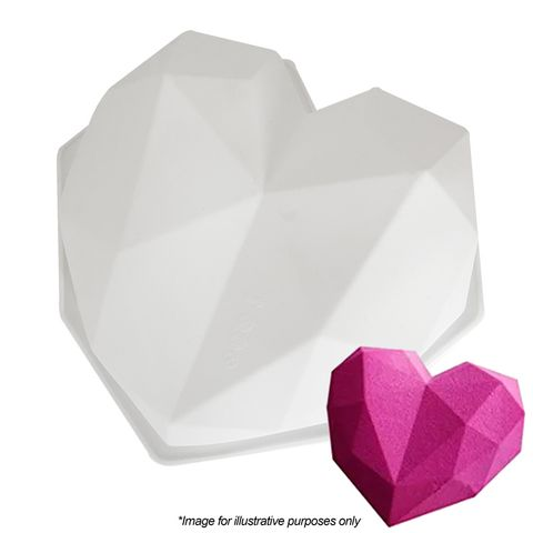 3D GEO HEART   EXTRA LARGE   SILICONE MOULD