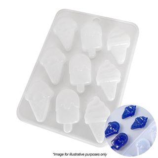 ICE CREAM CONE & POPSICLE   SILICONE MOULD