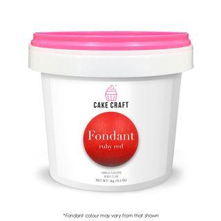 CAKE CRAFT | FONDANT | RUBY RED | 1KG