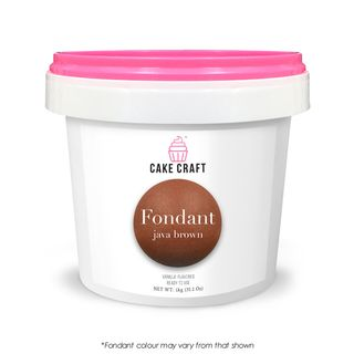 CAKE CRAFT | FONDANT | JAVA BROWN | 1KG