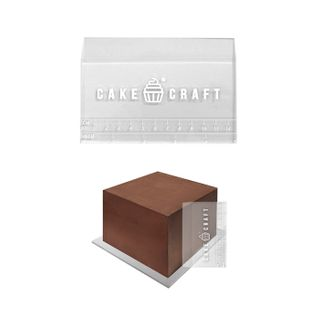 CAKE CRAFT | ACRYLIC SCRAPER WITH HEIGHT GUIDE | 5 INCH