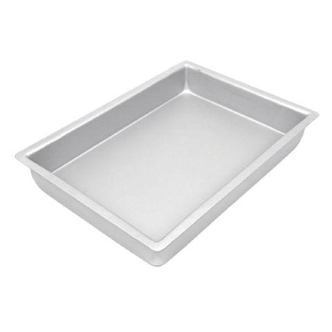 CAKE PAN/TIN   7 x 11 INCH   RECTANGLE   3 INCH DEEP