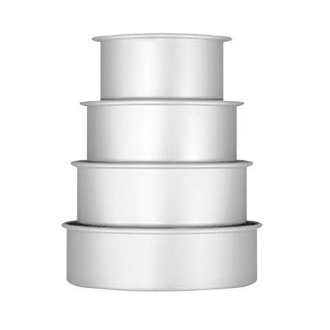 CAKE PAN/TIN | ROUND SET OF 4 (6-8-10-12 INCH) | 3 INCH DEEP