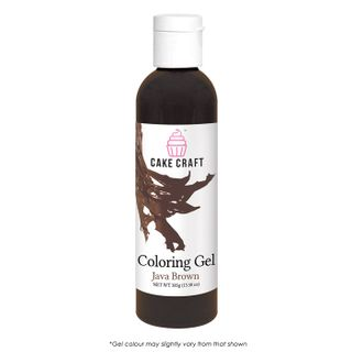 CAKE CRAFT | COLOURING GEL | JAVA BROWN | 385G