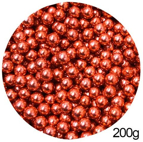 CACHOUS/BALLS | RED | 8MM | SPRINKLES | 200G
