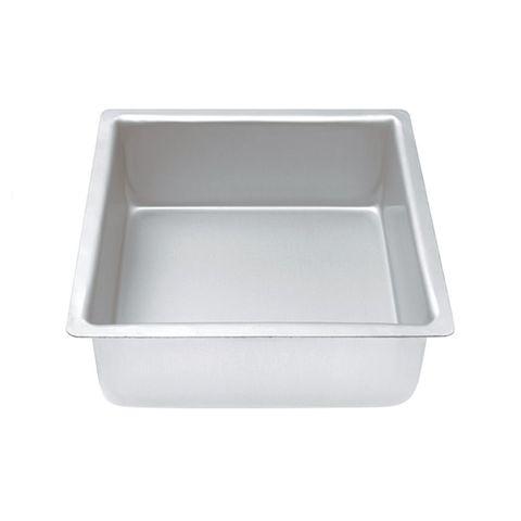 CAKE PAN/TIN   14 INCH   SQUARE   3 INCH DEEP