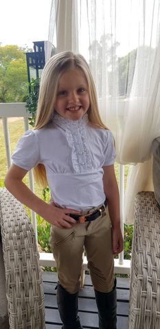 Girls Frill Show Shirt White