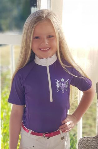 Girls Frill Show Shirt purple