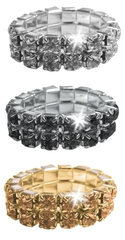 Crystal Plaiting Bands - Black 5 pack