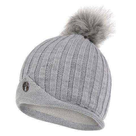 Prestwick Pom Knit Hat - Grey