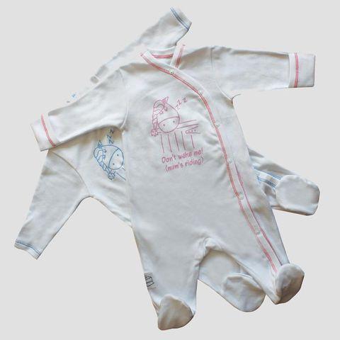 Born to Ride Babygrow - Wht/Bl