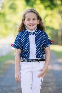 Polka Dot Shirt - Navy