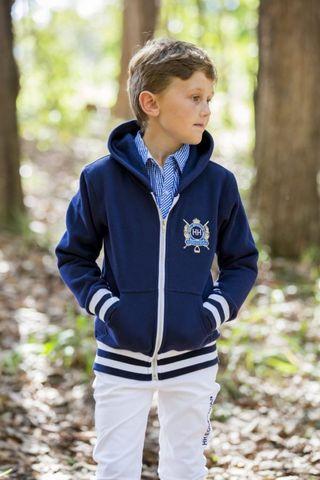 Kids navy hoodie