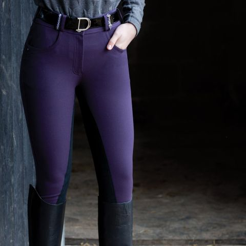Snaffle link breeches - Blackberry/Black