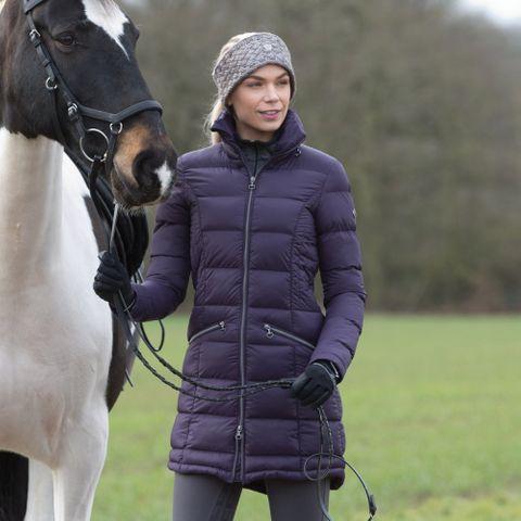 Lexi Long Quilted Packable Coat - Blackb
