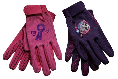 Junior Poneez Rosette Gloves -