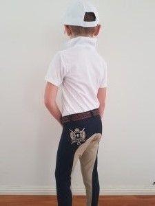 Kids Jodhpurs Beige/Navy
