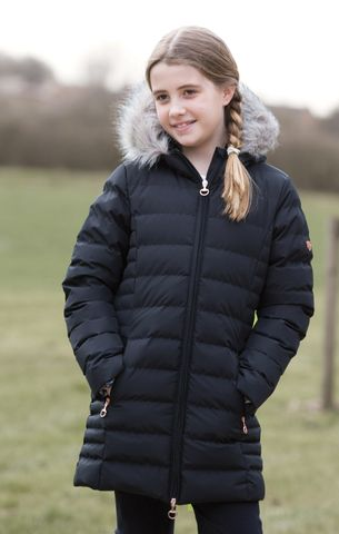 Junior Long Quilted Jacket - B