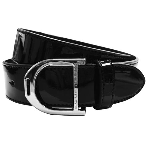 Stirrup Leather Belt -Black Patent