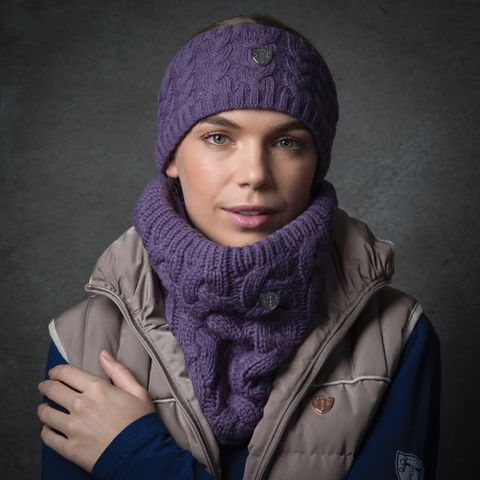 Cable Knit Headband - Mauve