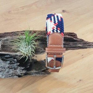 Nylon Belt- Navy,White & Red