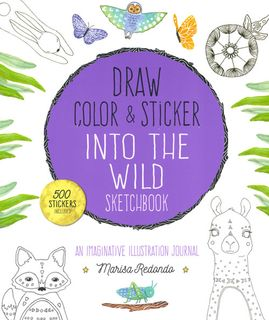 Draw, Color and Sticker into the Wild Sketchbook