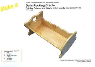 Plan-Dolls Rocking Cradle