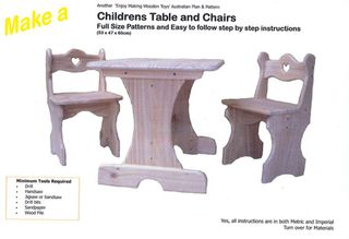 Plan-Childrens Table & Chairs