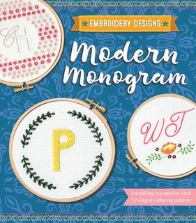 Embroidery Designs: Modern Monogram