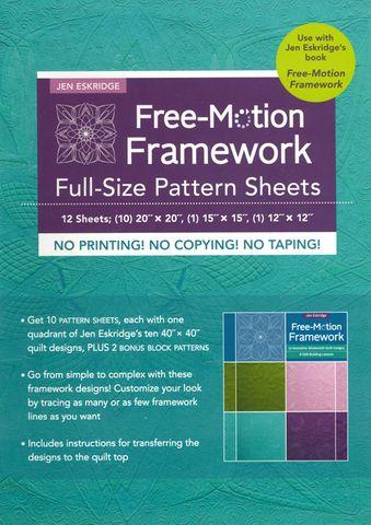 Free-Motion Framework Full-Size Pattern Sheets