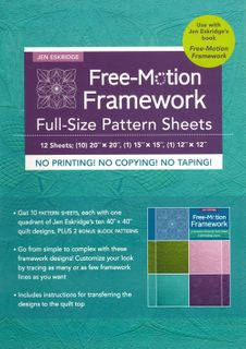 Free-Motion Framework Full-Size Pattern Sheets