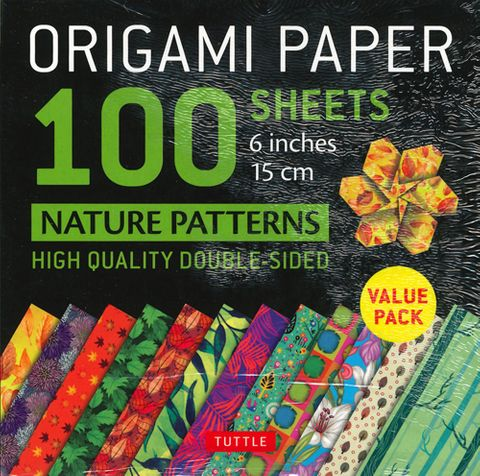 Origami Paper 100 Sheets: Nature Patterns