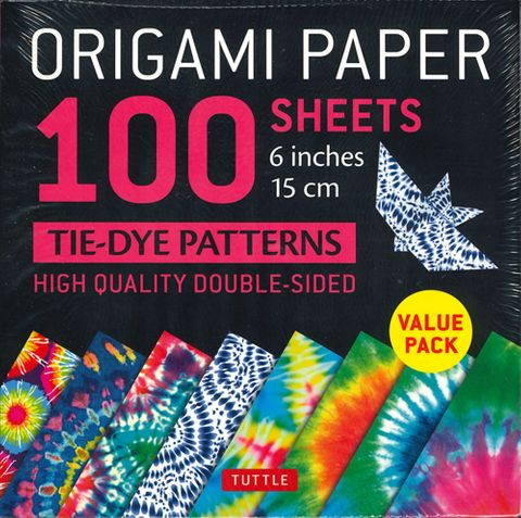 Origami Paper 100 Sheets: Tie-Dye Patterns