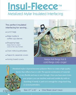 Insul-Fleece: Metalized Mylar Insulated Interfacing