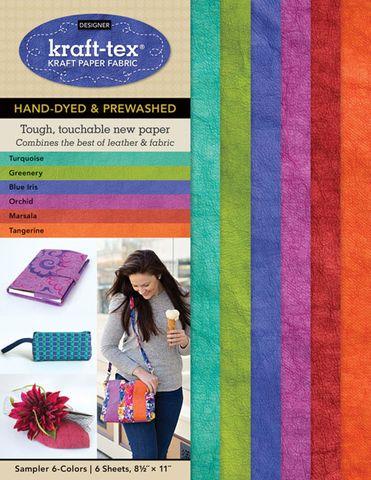 Kraft-Tex Sampler 6-Colors Hand-Dyed & Prewashed