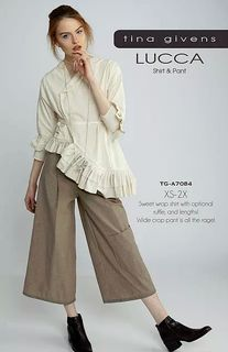 Lucca Jacket / Shirt & Wide Crop Pant
