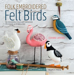 Folk Embroidered Felt Birds