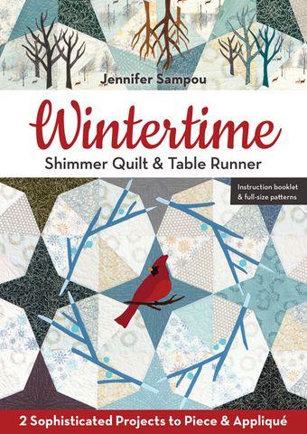 Wintertime Shimmer Quilt & Table Runner
