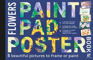 Paint Pad Poster Book: Flowers
