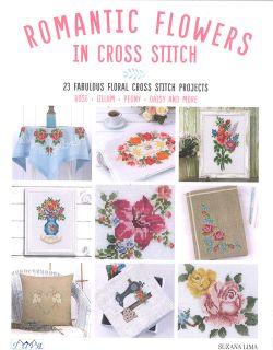 Romantic Flowers in Cross Stitch