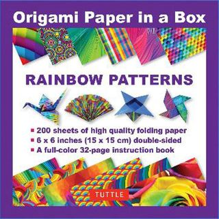 Origami Paper in a Box Rainbow