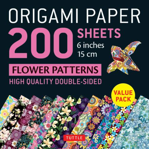Origami Paper 200 Sheets: Flower Patterns