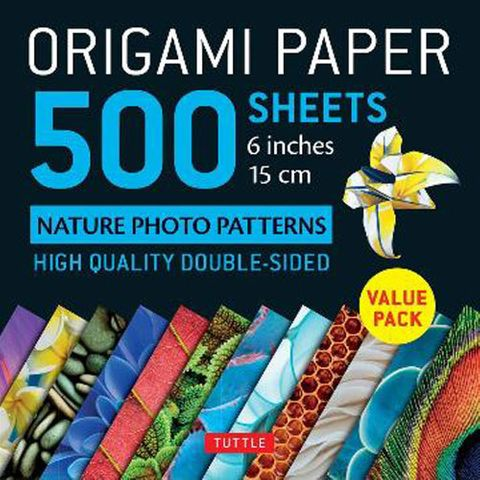 Origami Paper 500 Sheets: Nature Photos